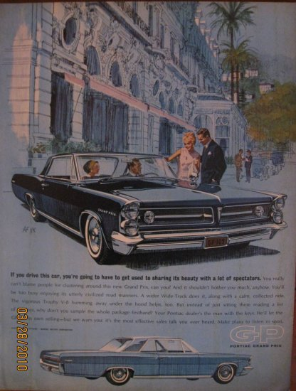 Pontiac Grand Prix 1962 Authentic Print Ad