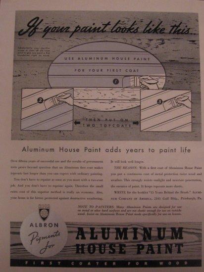 Aluminum Paint 1938 Authentic Print Ad