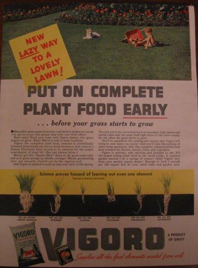 Vigoro Plant Food 1939 Authentic Print Ad