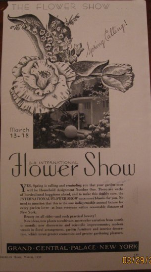 New York Flower Show 1939 Authentic Print Ad