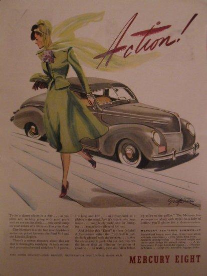 Mercury Eight 1939 Authentic Print Ad