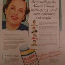 Kraft Miracle Whip 1939 Authentic Print Ad