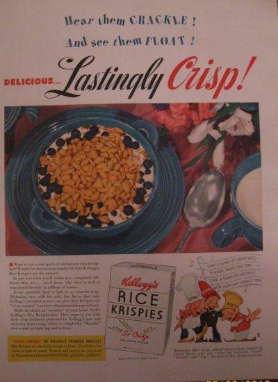 Kellogg's Rice Krispies 1939 Authentic Print Ad