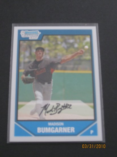 2007 Bowman Chrome #BDPP61 Madison Bumgarner NM/MT