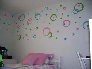 Kids Mod Wall Vinyl Decal Dots Circles Stickers 3 Color