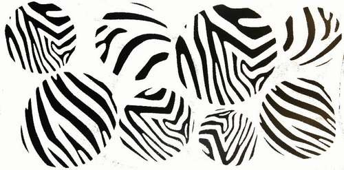 Zebra Wall Vinyl Decor Decals Stickers 8 lg dots circle