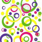 Wall Vinyl Sticker Decal Circles Rings Dots Kids 4color