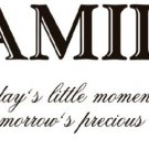 Family Moments Wall Vinyl Sticker Decal Saying Home