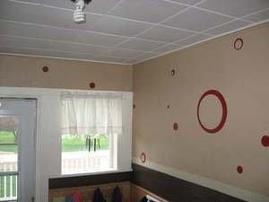 Wall Vinyl 25 Sticker Decals Circles Dots Rings 1 color