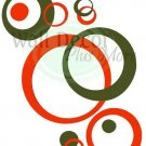 Wall Vinyl Circle Bubble Dots Sticker Decals Orange Oli