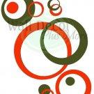 Wall Vinyl Circle Bubble Dots Sticker Decals Orange Oli