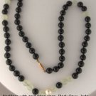 Necklace with Black Onyx, Jade, Pearl