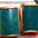 Antique Bloodstone Cuff-Links