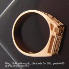 Ring, 14-kt yellow gold, diamonds 3=.10ct,