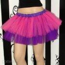 Neon Pink Purple Kawaii Ballet Adult TuTu Tulle Skirt Large