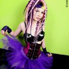 Bright Purple Cyber Goth Faerie Adult Tulle Tutu Skirt Small