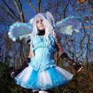 Turquoise Blue Striped Adult TuTu Fairy Princess Tulle Dance Small