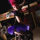 DIY Gothic Faerie Purple Micro Mini Tutu Tulle Skirt Small