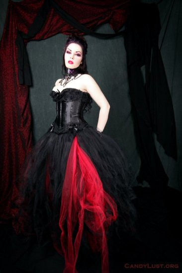 Red Formal Gothic Wedding Tulle Skirt Adult large / plus