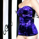 Purple Crushed Velvet Gothic Top Adult Small
