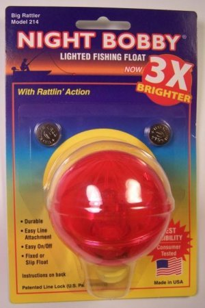 red rieadco corp 2 1 4 night time fishing bobber light up