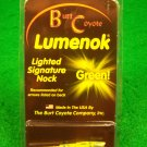 Signature Lumenok Green Lighted Arrow Nock Lumenoks Burt Coyote Single One 1