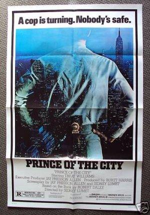 TREAT WILLIAMS Original PRINCE OF THE CITY  Poster 1981