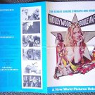 HOLLYWOOD BOULEVARD Tri-Fold PRESSBOOK Joe Dante LA '76