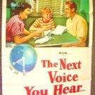 NEXT VOICE YOU HEAR 1-Sheet POSTER Nancy Regan Davis 50