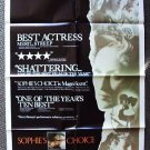SOPHIE&#39;S CHOICE Original Poster MERYL STREEP Oscar Win!