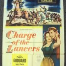 CHARGE OF THE LANCERS  Western Poster  PAULETTE GODDARD