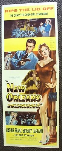 NEW ORLEANS Uncensored INSERT Poster BEVERLY GARLAND 55