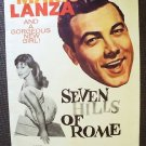 MARIO LANZA Seven Hills of Rome 1-Sheet POSTER   M.G.M.