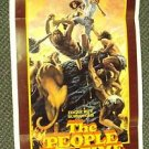 PEOPLE THAT TIME FORGOT Edgar Rice Burroughs POSTER '77
