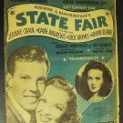 STATE FAIR  Rodgers and Hammerstein  SHEET MUSIC   1945