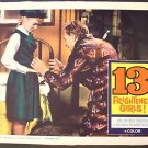 WILLIAM CASTLE Lobby Card 13 FRIGHTENED GIRLS! Thirteen
