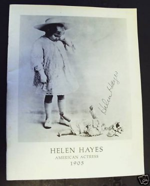 HELEN HAYES Original PHOTO Program  BEVERLY HILLS Hotel