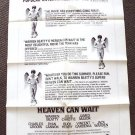WARREN BEATTY Original HEAVEN CAN WAIT Critic POSTER 78