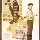 ROBERT TAYLOR The HOUSE OF SEVEN HAWKS Film-Noir POSTER