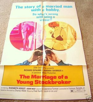 MARRIAGE OF A YOUNG STOCKBROKER  Voyeur 1-Sheet  POSTER