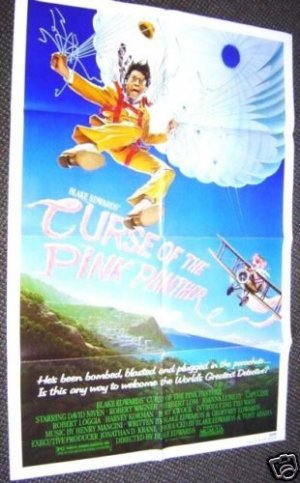 BLAKE EDWARDS Curs of the PINK PANTHER  Poster TED WASS