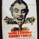 RETURN OF COUNT YORGA Horror 1-Sheet POSTER Hammer Art