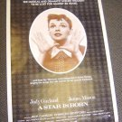 JUDY GARLAND Original A STAR IS BORN Poster WARNER BROS