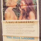 BLUE LAGOON  POSTER  Christopher Atkins  BROOKE SHIELDS
