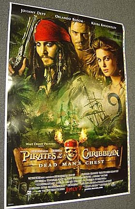 JOHNNY DEPP Original  PIRATES OF THE CARIBBEAN   Poster