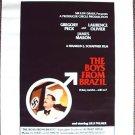 BOYS FROM BRAZIL Poster  GREGORY PECK  Laurence Olivier