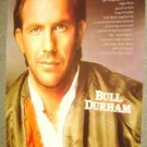 KEVIN COSTNER  Poster  BULL DURHAM Baseball Player 1988
