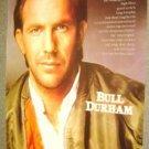 KEVIN COSTNER  Poster  BULL DURHAM Baseball Player 1988