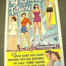 FOUR GIRLS IN TOWN Cheesecake Pin-up 1-Sheet POSTER  4