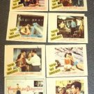 YOUNG and DANGEROUS Teenage TRASH  Lobby Card SET 1957
